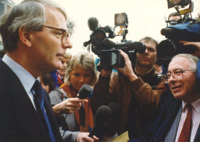 Tony Scase interviewing the then Prime Minister John Major