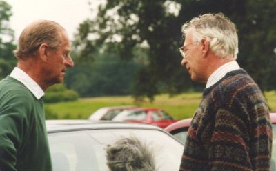 Tony Scase interviewing the Duke of Edinburgh